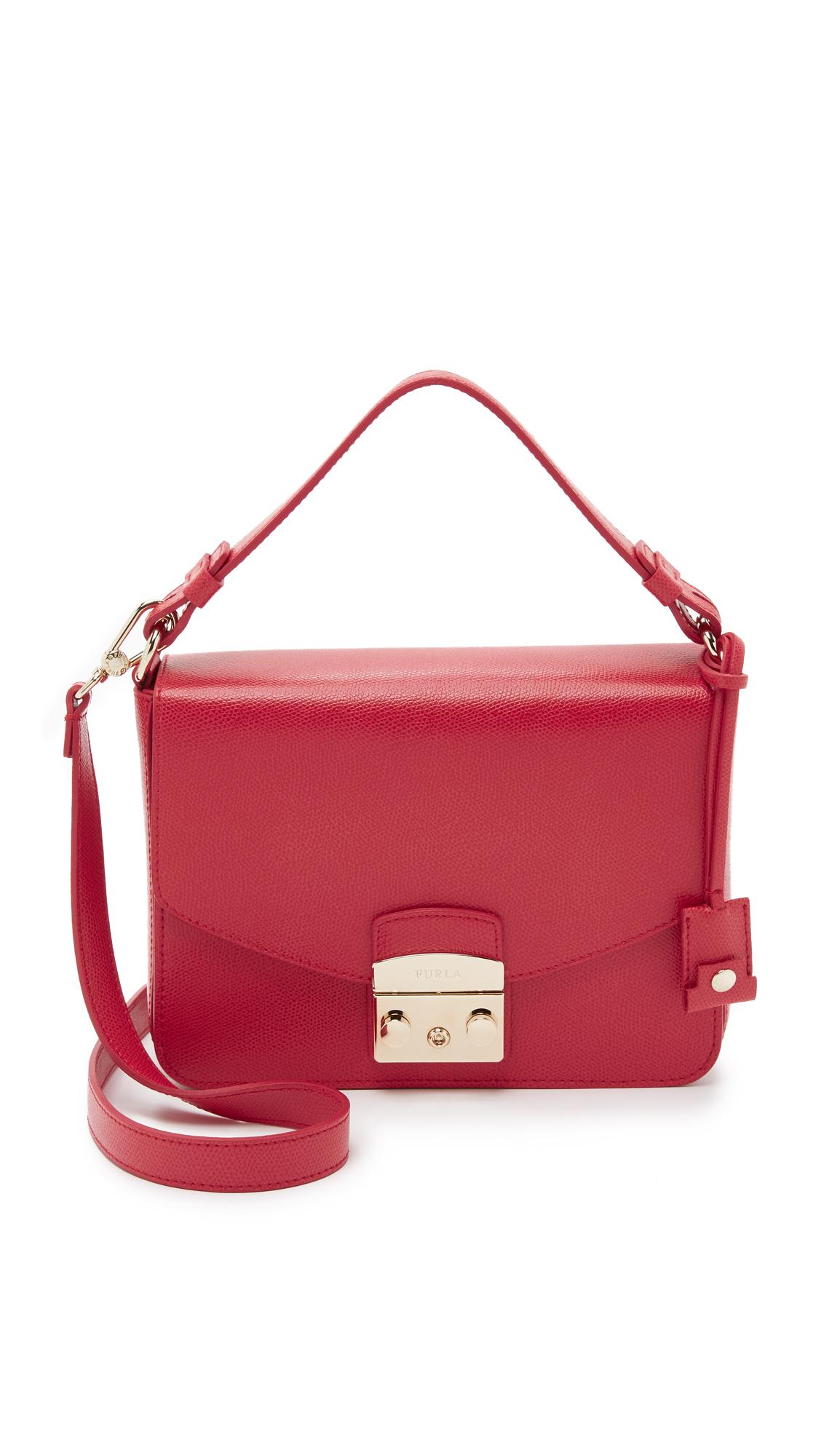Mini Metropolis pebbled-leather shoulder bag Furla A1d7Oqsjn