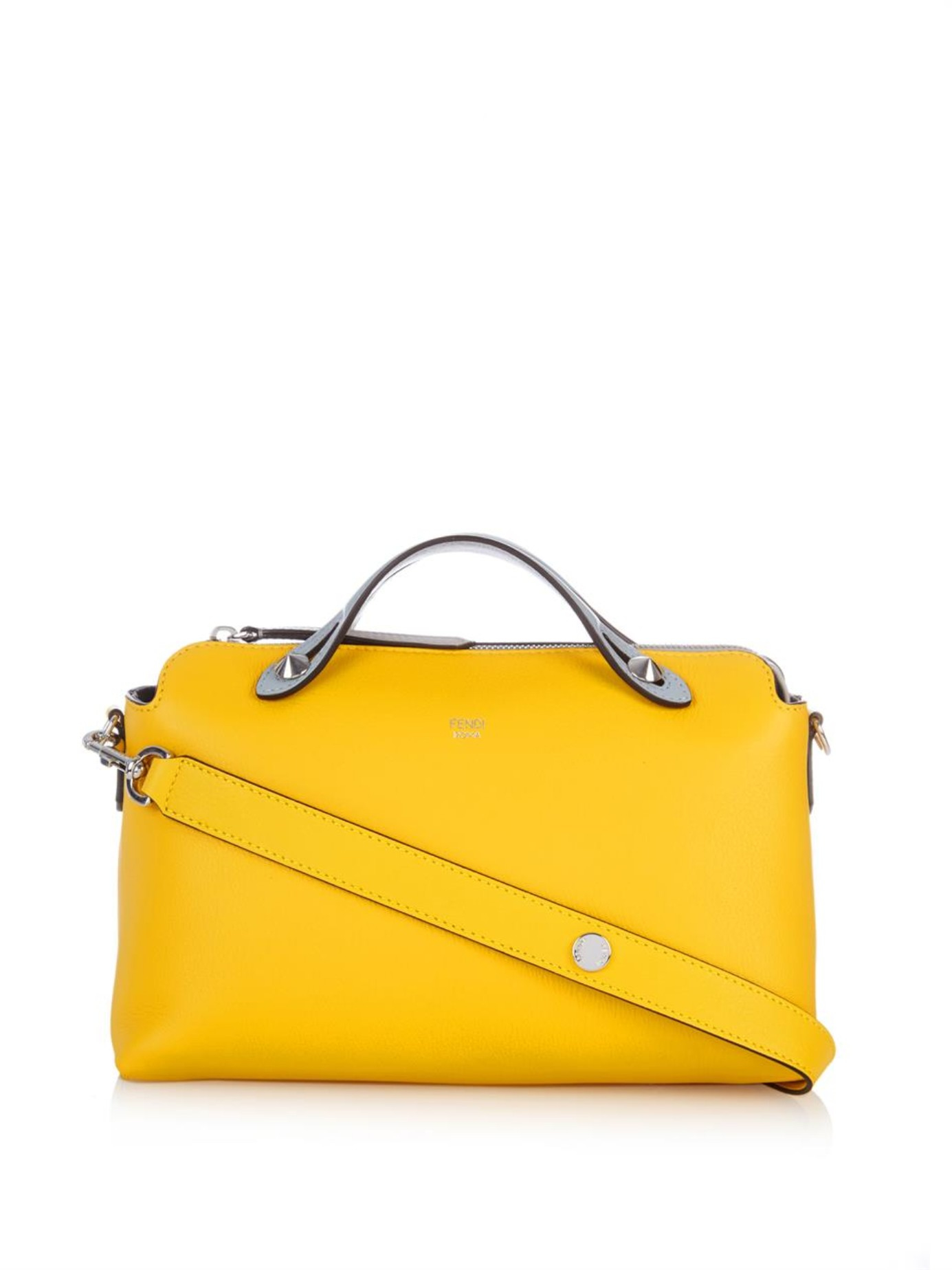 7d5f62bd8842 ... wholesale lyst fendi by the way leather cross body bag in yellow ef105  96736