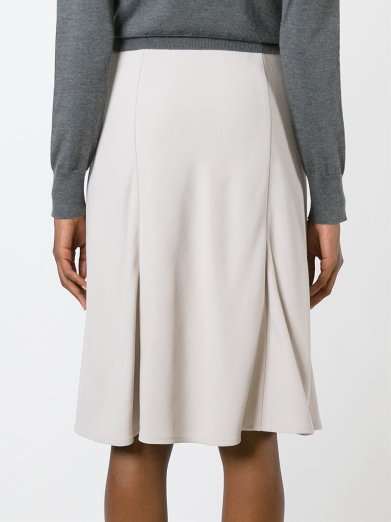 brunello cucinell flared a line skirt in beige