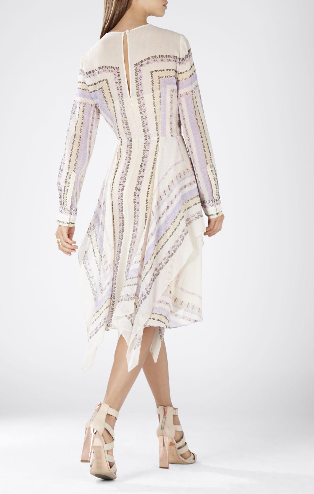 Handkerchief Long Sleeve Dress