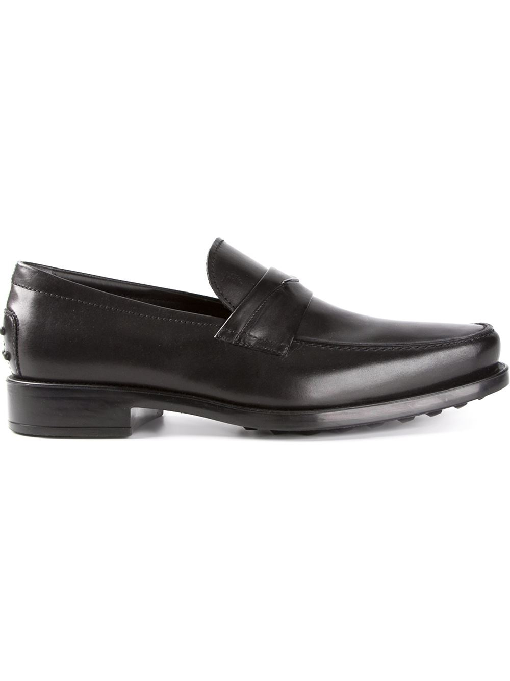 Tod's Penny Bar Loafers in Black for Men
