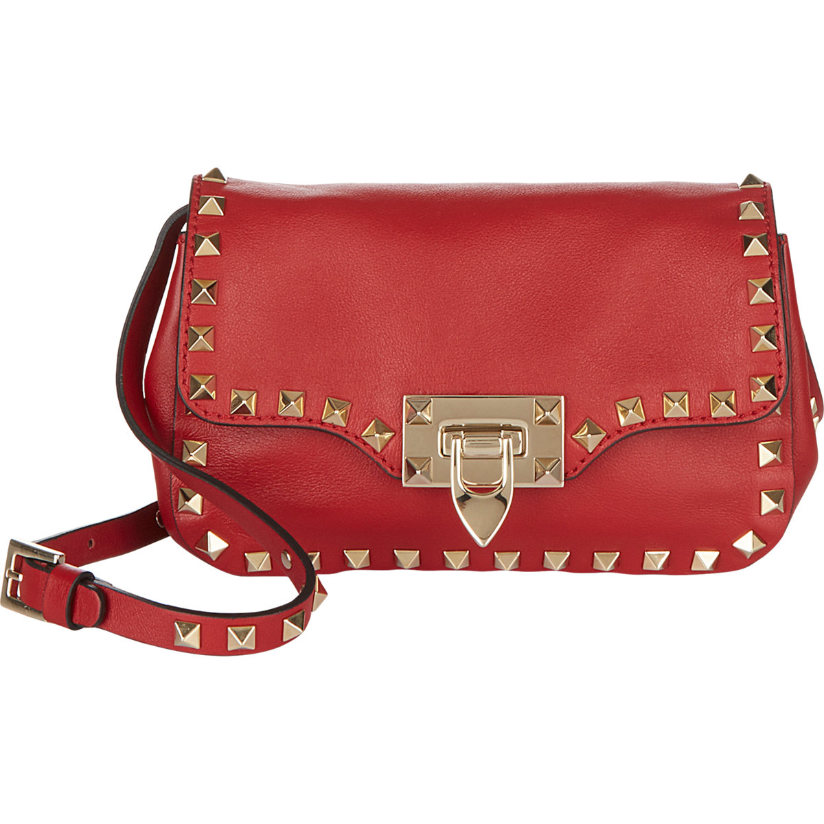 96d85d37f663 Valentino Garavani Rockstud Crossbody Bag Red