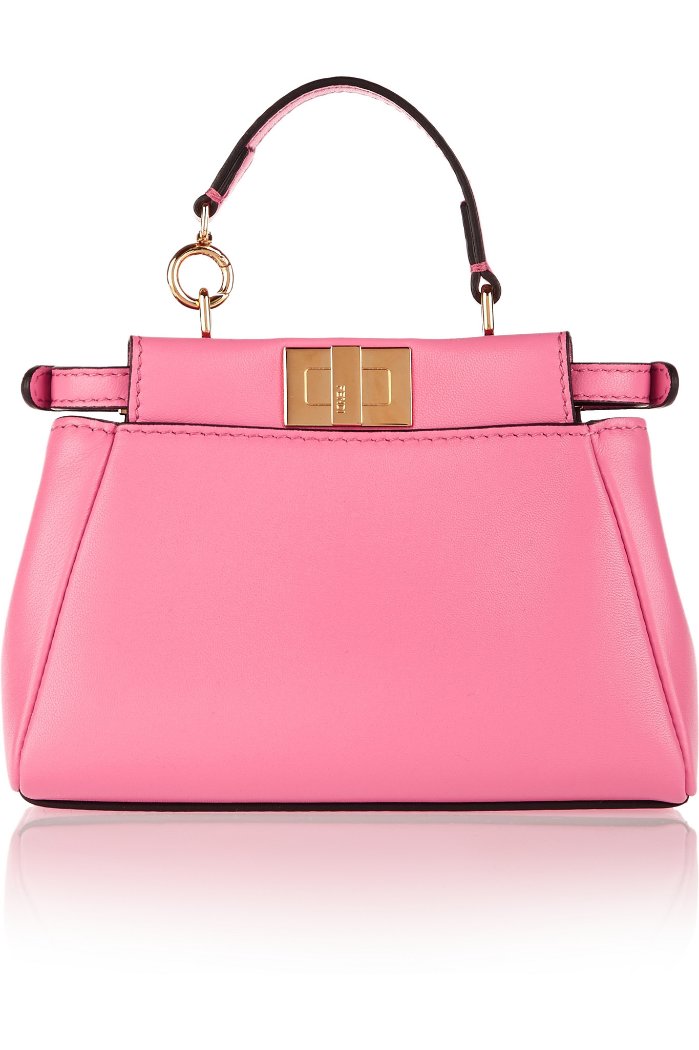 5b352702746c ... italy fendi peekaboo micro leather shoulder bag in pink lyst f5ce8 3cfc2