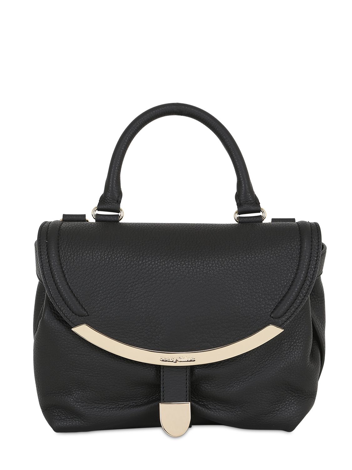 See By Chlo 233 Lizzie Grained Leather Shoulder Bag In Black
