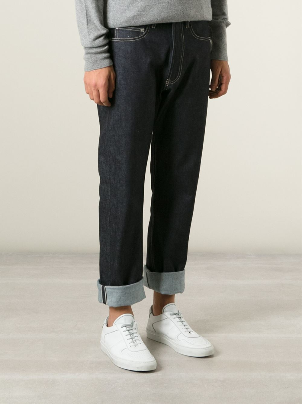 e tautz straight fit jeans in blue for men lyst. Black Bedroom Furniture Sets. Home Design Ideas