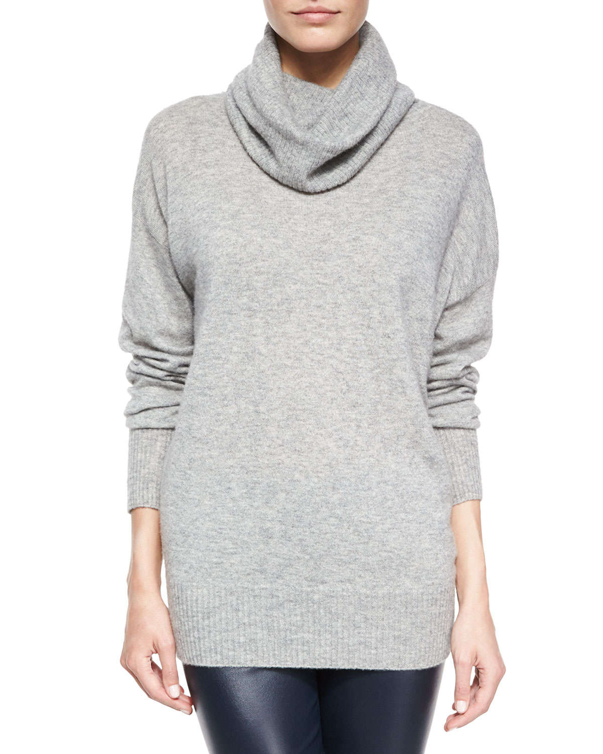 The row Superfine Cashmere-blend Slouchy Turtleneck Sweater in ...