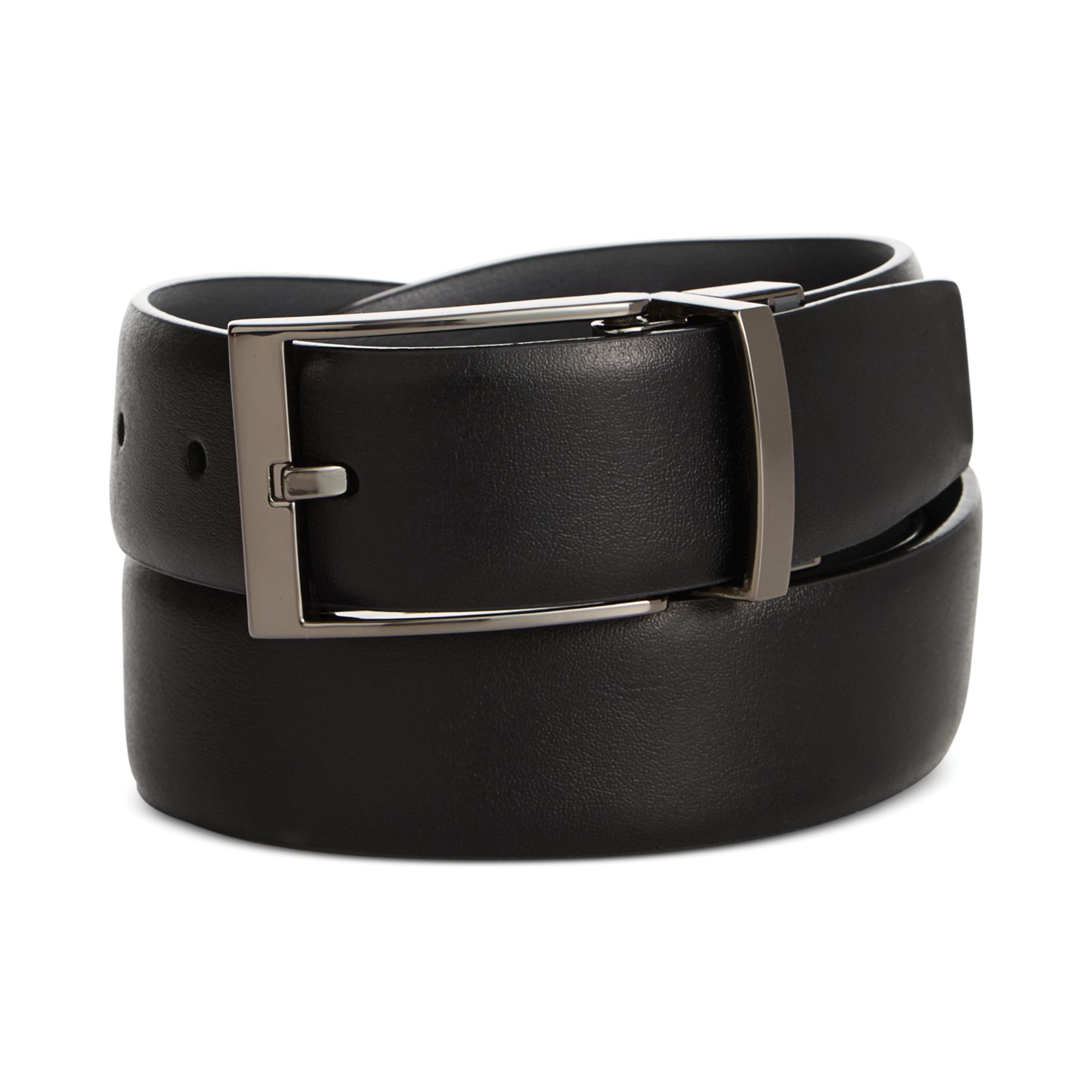 perry ellis jekyl and hyde reversible leather belt in
