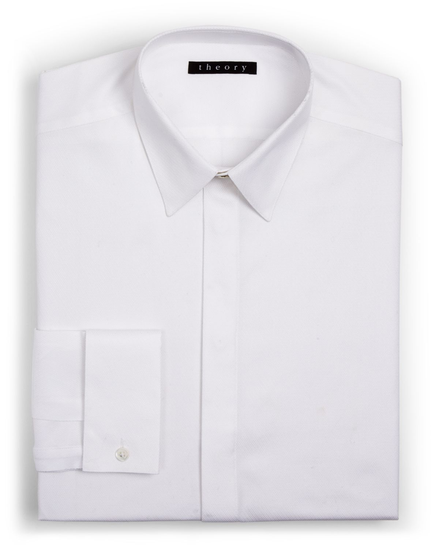 Theory dover tuxedo button down dress shirt regular fit for White button down dress shirt