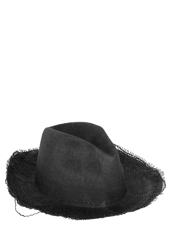 Reinhard Plank Ripped Straw Hat in Black for Men - Lyst 0413b54fcd3d