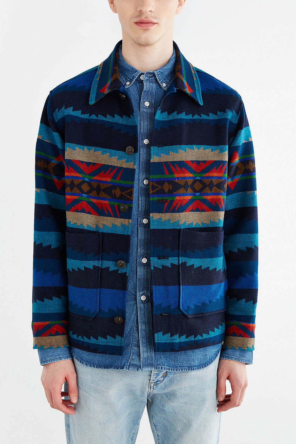 Pendleton X Reyn Spooner Surf Shirt Jacket in Blue for Men | Lyst