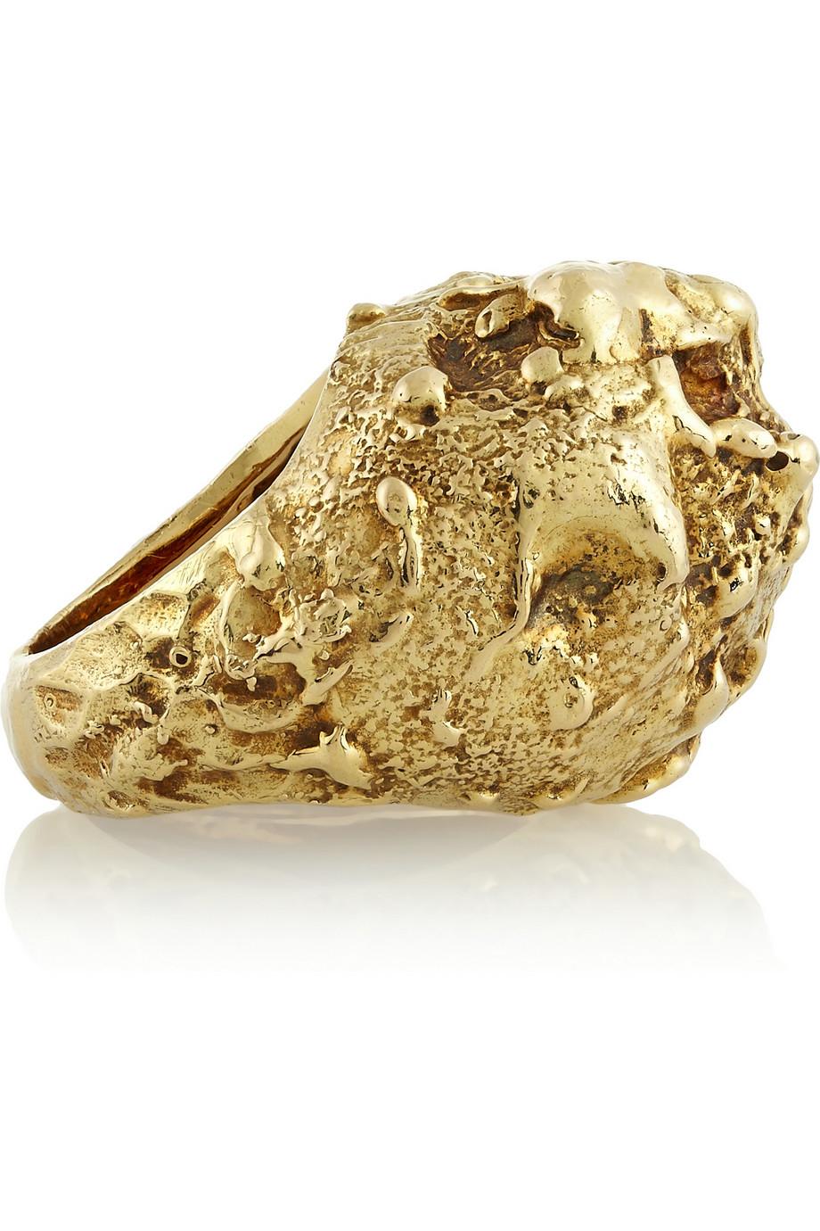 Fred Leighton 18karat Gold Nugget Ring In Metallic Lyst