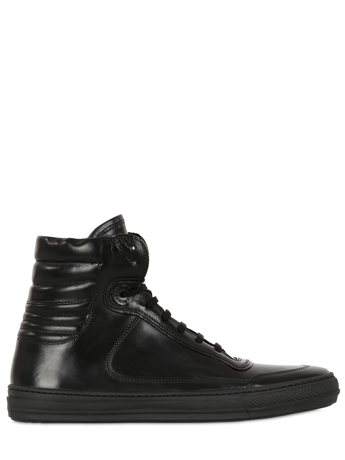 Diesel Black Gold Smooth Leather High