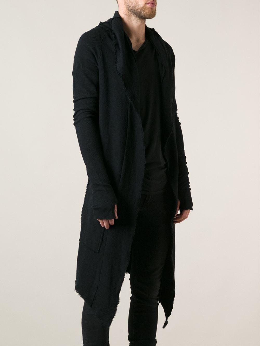 Lyst Thom Krom Long Asymmetric Cardigan In Black For Men