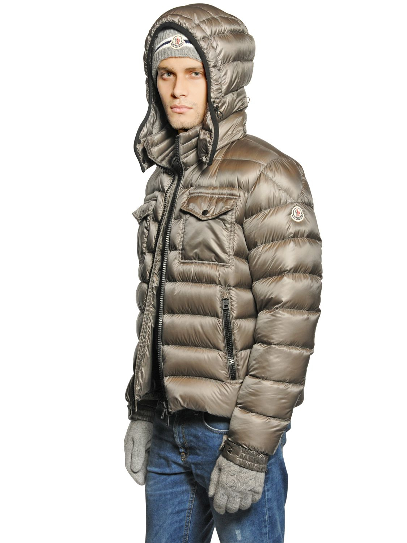 Lyst Moncler Edward Nylon Down Jacket In Gray For Men