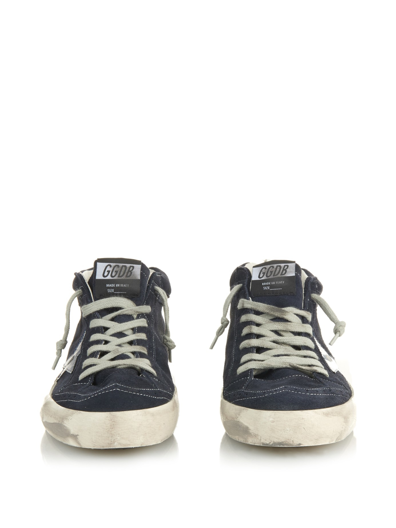 ac55992c7549f Golden Goose Deluxe Brand Mid Star Suede Mid-Top Sneakers in Blue for Men -  Lyst
