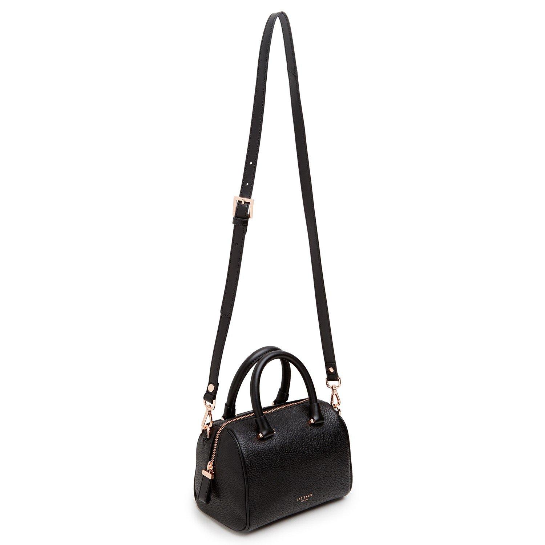 Emilya Leather Mini Duffle Bag In Black