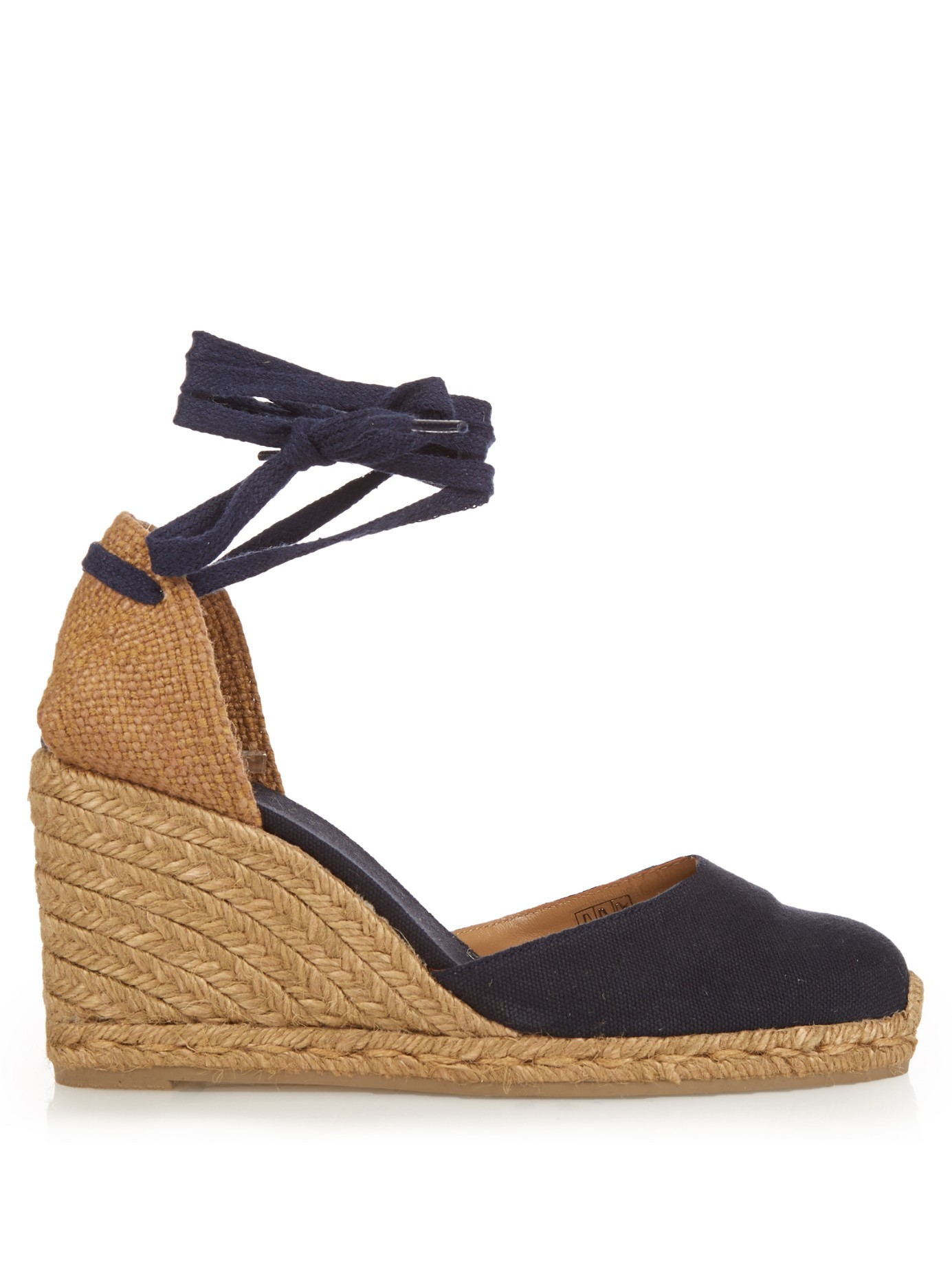 1bf719f17a Castaner Carina Espadrille Wedges In Blue Lyst. Navy Blue Espadrille Wedges