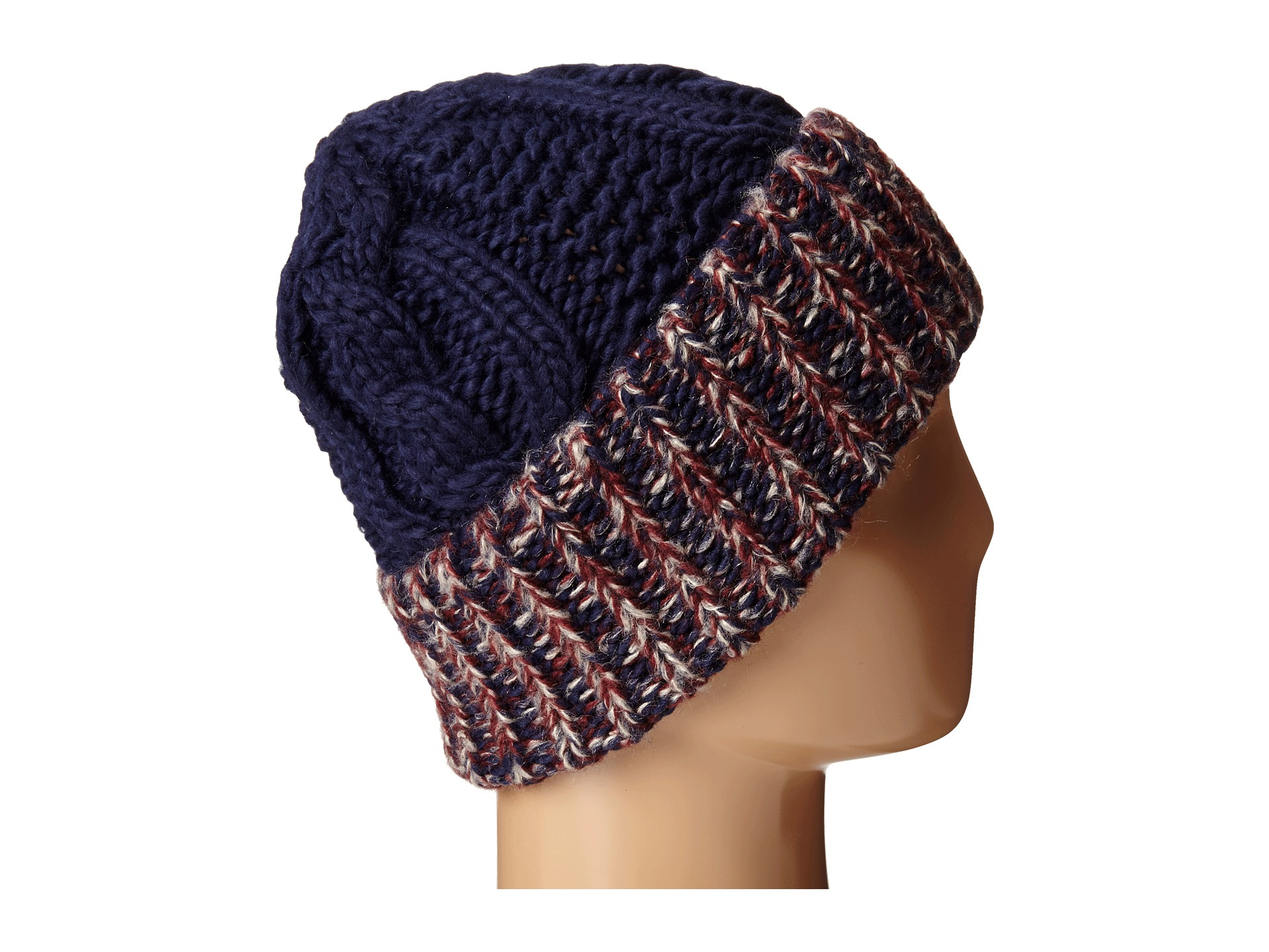 San diego hat company Knh3378 Oversized Cable Knit Beanie With Marled Yarn Cu...
