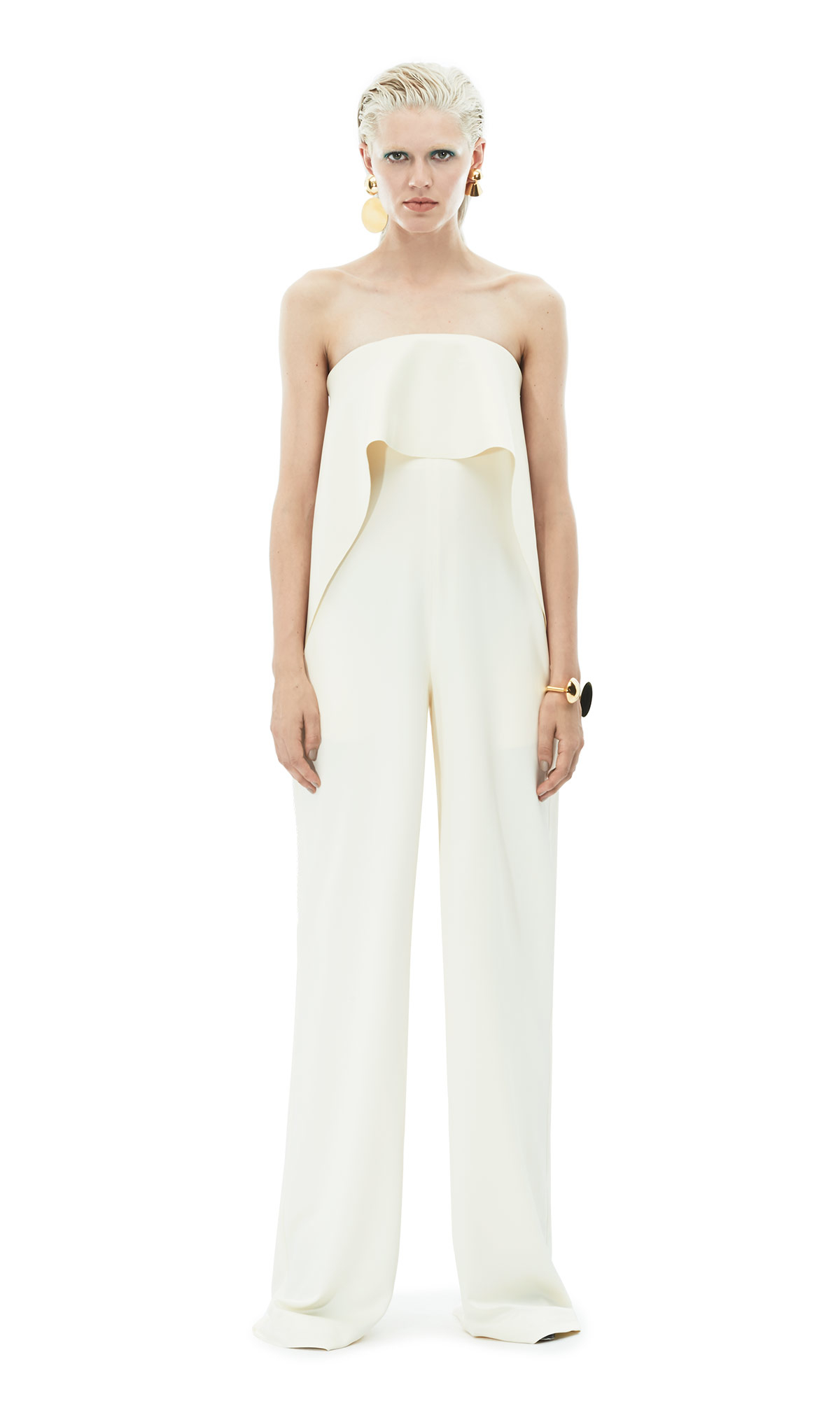 7b22a74088c Lyst - Solace London Cadenza Jumpsuit Ivory in Natural