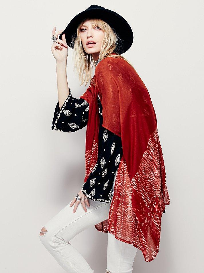 Lyst Free People Salt Spray Kimono In Red