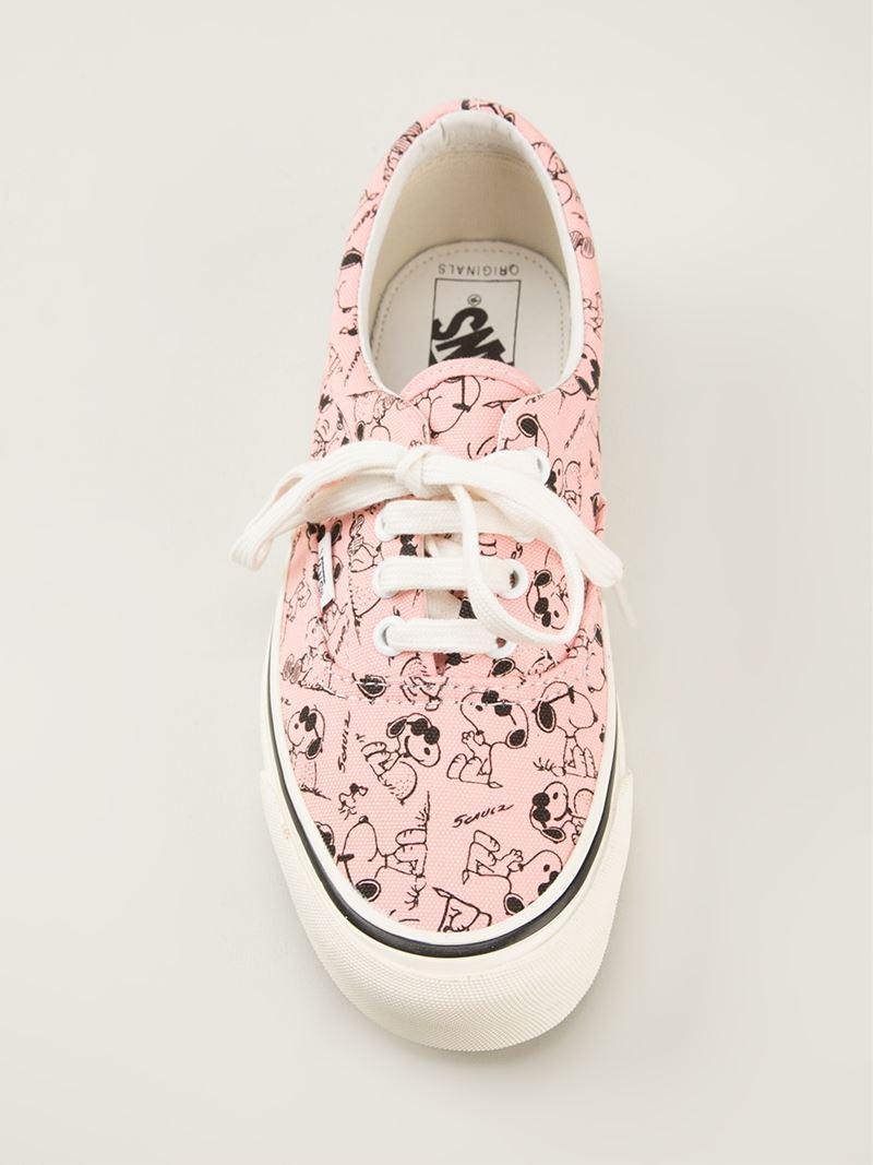 Vans 'Snoopy' Sneakers in Pink \u0026 Purple