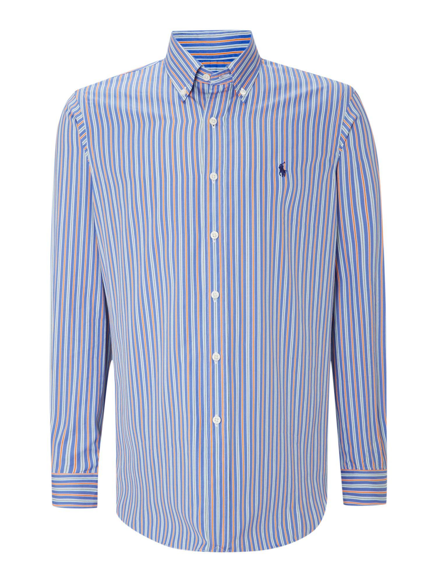 Polo Ralph Lauren Long Sleeve Custom Fit Multi Stripe