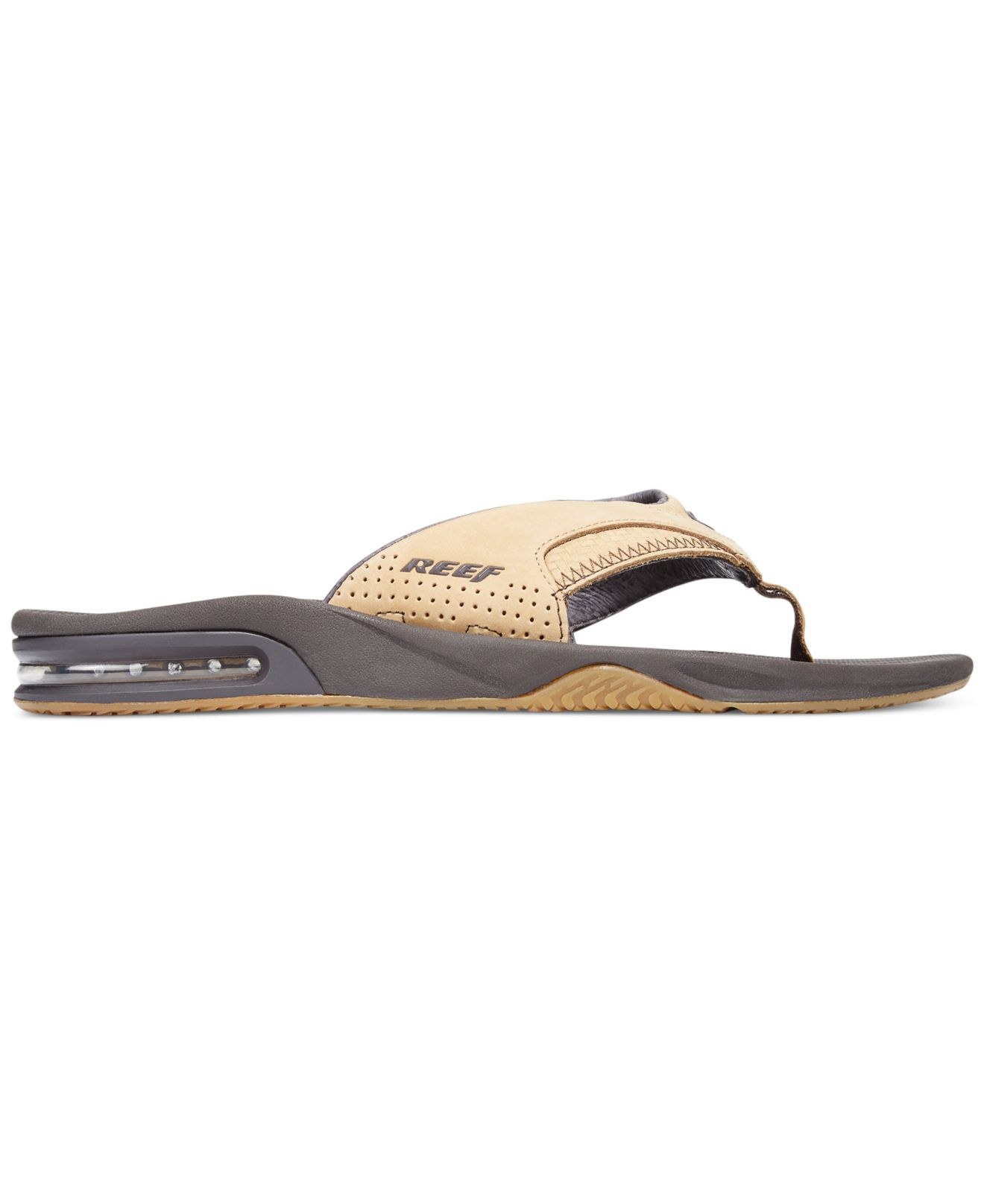 6479c33e2ded Lyst - Reef Leather Fanning Sandals in Natural for Men