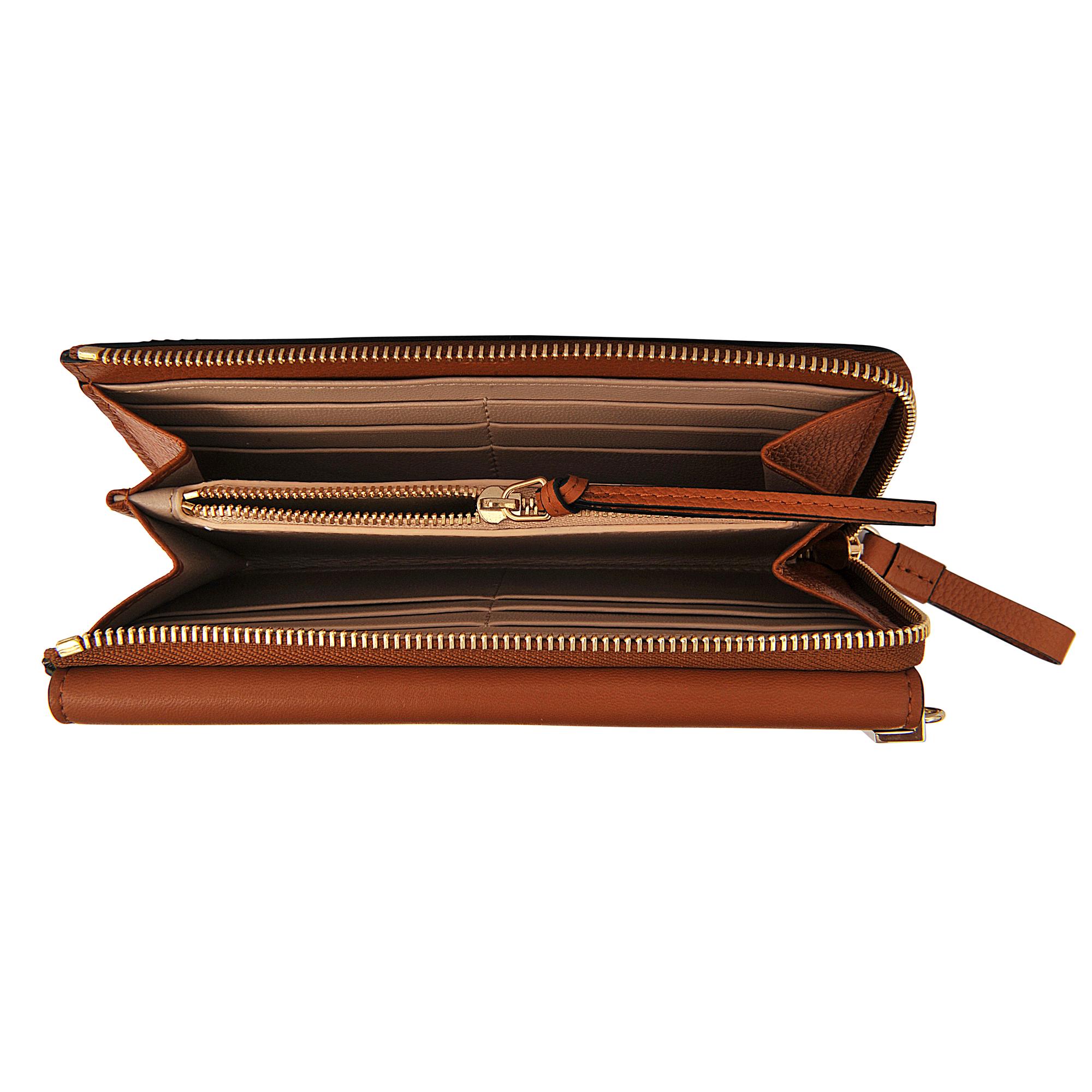 fake chloe - Chlo�� Faye Long Zipped Wallet in Brown | Lyst