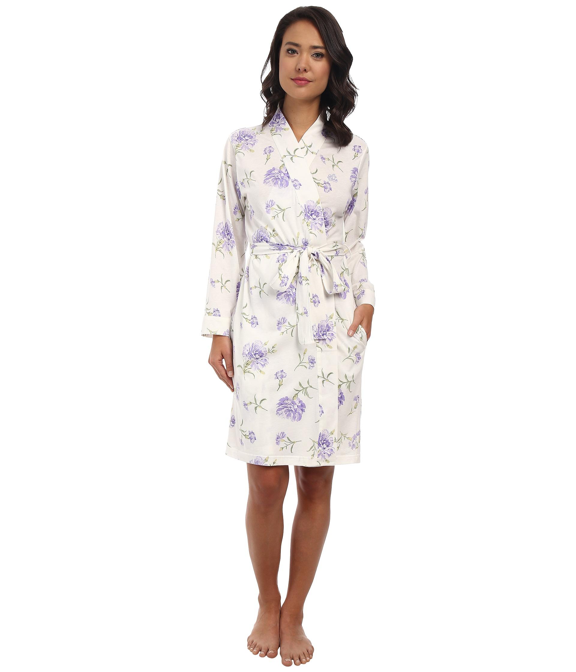 lyst lauren by ralph lauren victorian lawn short kimono robe With robe ralph lauren bebe