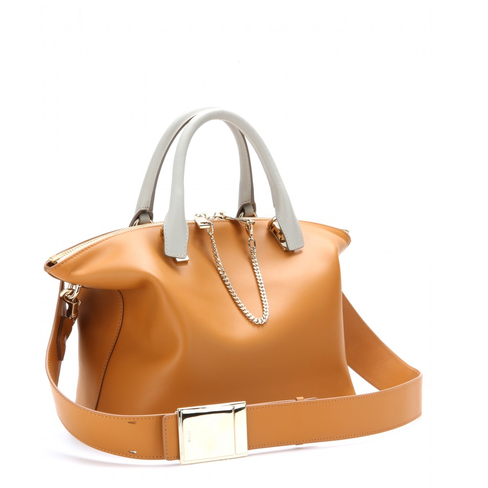 Chlo¨¦ Baylee Medium Leather Tote in Brown (yummy cookie made in ...