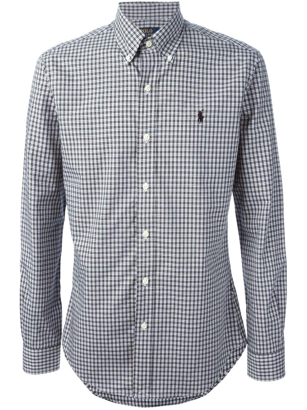 black polo button down shirt