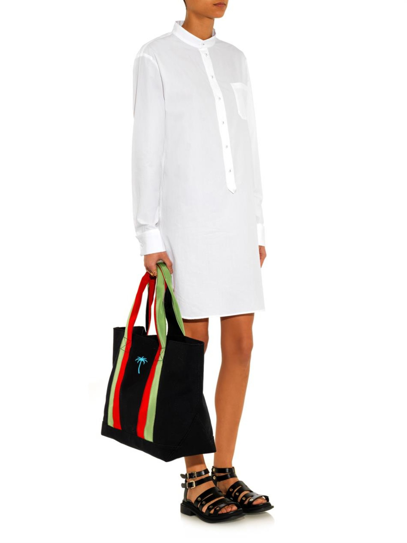 Cotton-poplin shirt dress Tomas Maier 84SNsXaFs