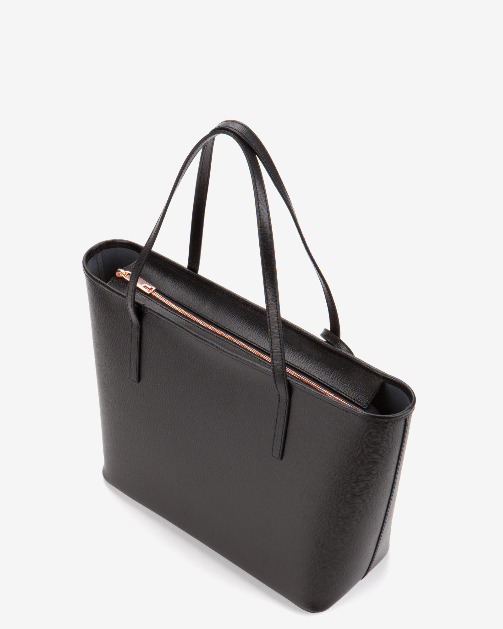 Ted baker Bonnita Leather Tote in Black | Lyst