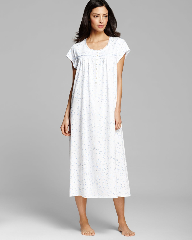 Lyst - Eileen West Pima Cotton Light Jersey Long Ballet Gown in White