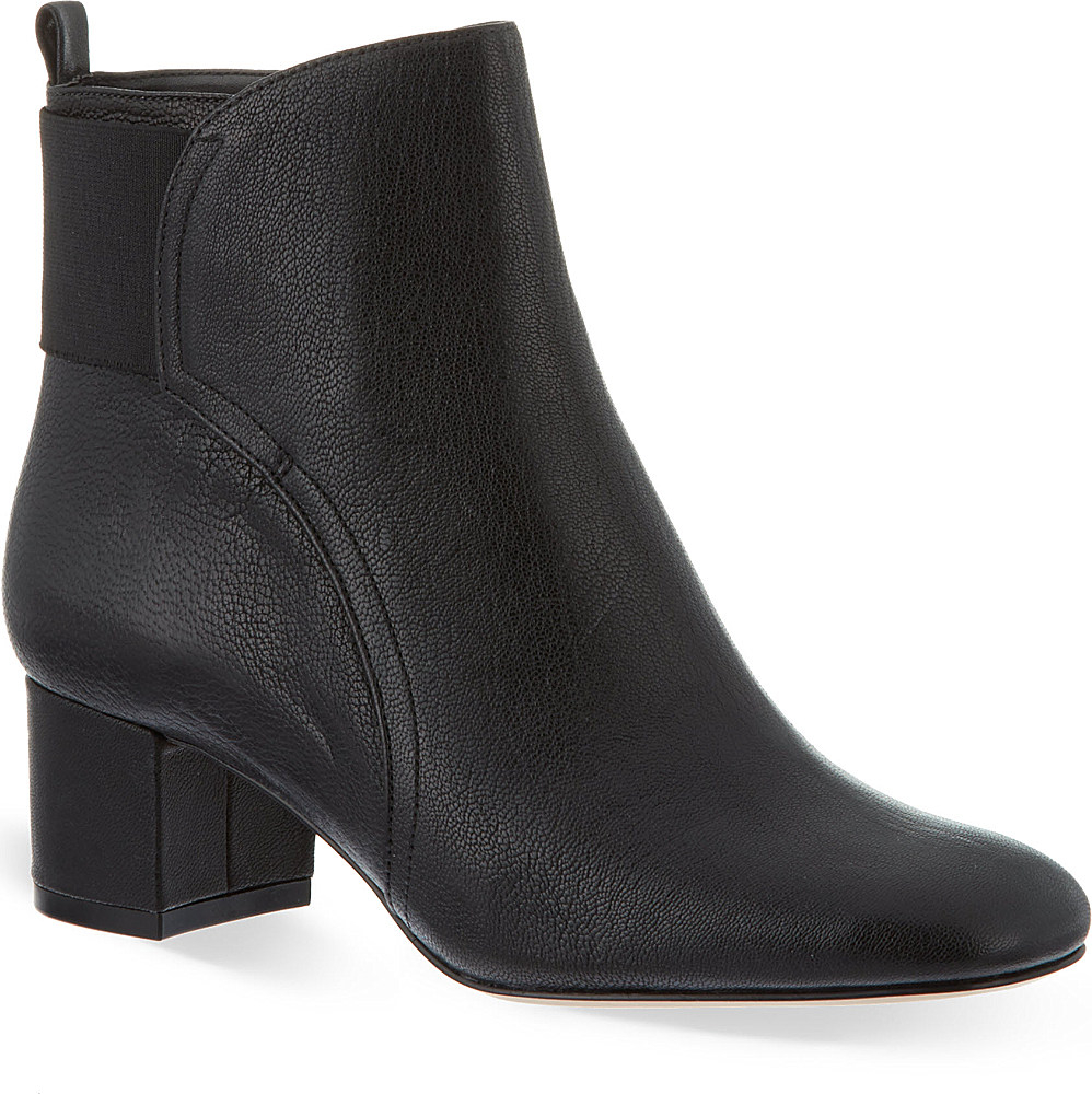 nine west faceit leather ankle boots in black lyst
