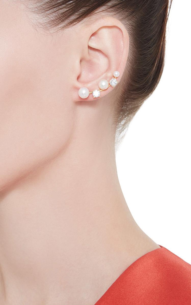 Fallon Double-Vine Cuff Earrings oqXnlp