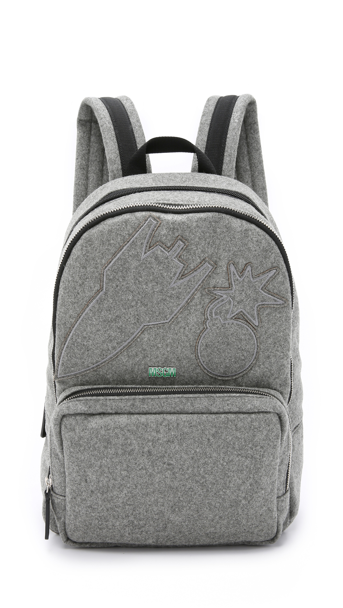Lyst Msgm Backpack In Gray For Men
