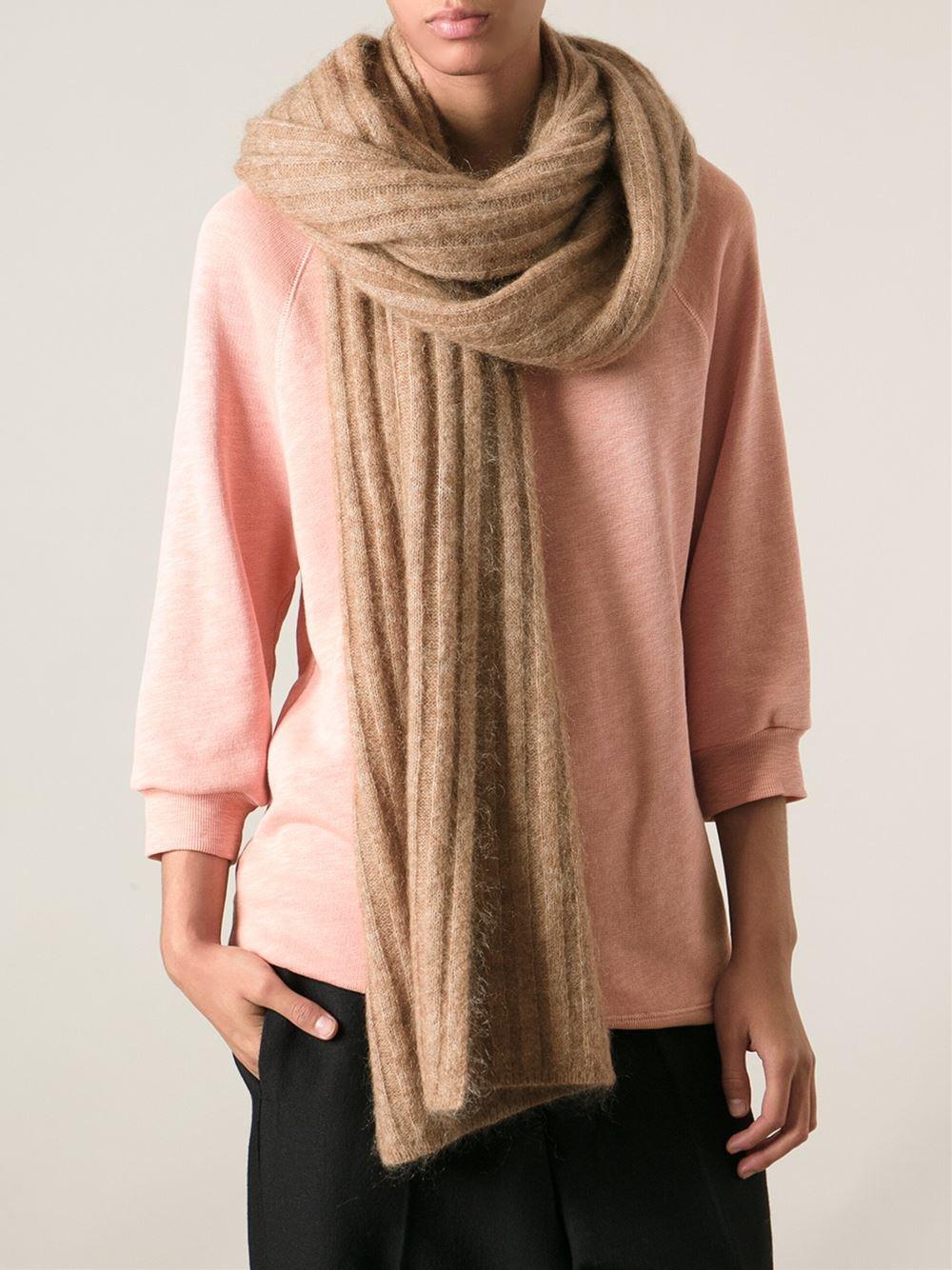 acne studios doraine scarf in brown lyst