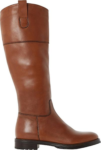 dune timi leather knee high boots for in brown