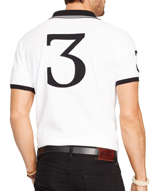 lyst ralph lauren polo black watch custom fit polo shirt. Black Bedroom Furniture Sets. Home Design Ideas