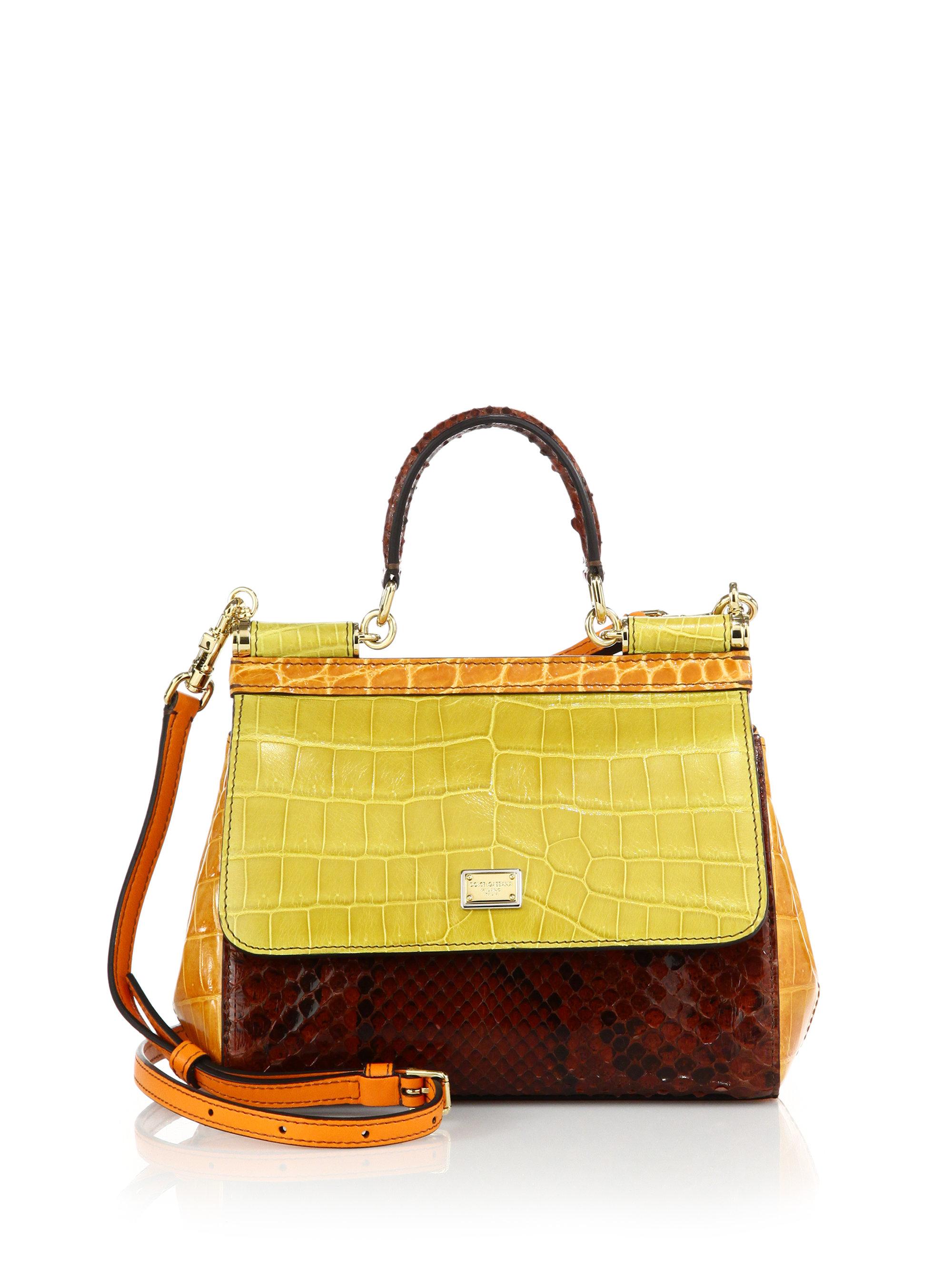 526e94f36207 Lyst - Dolce   Gabbana Sicily Small Multicolor Crocodile
