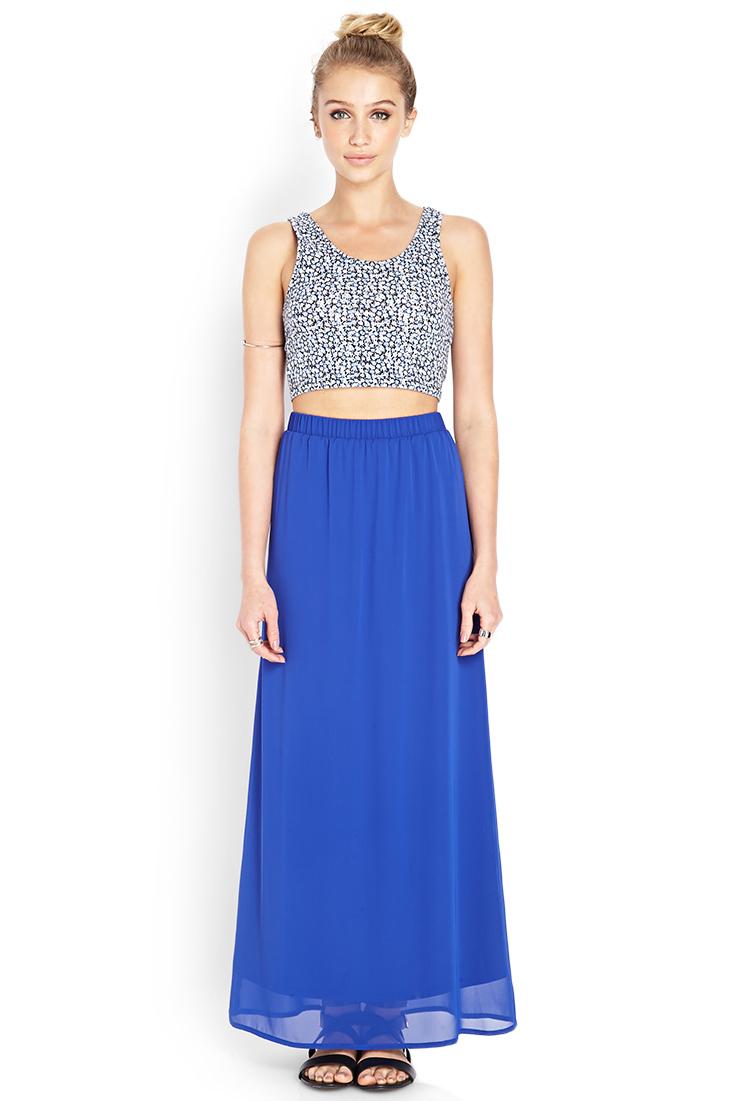 Simple Chiffon Maxi Dress
