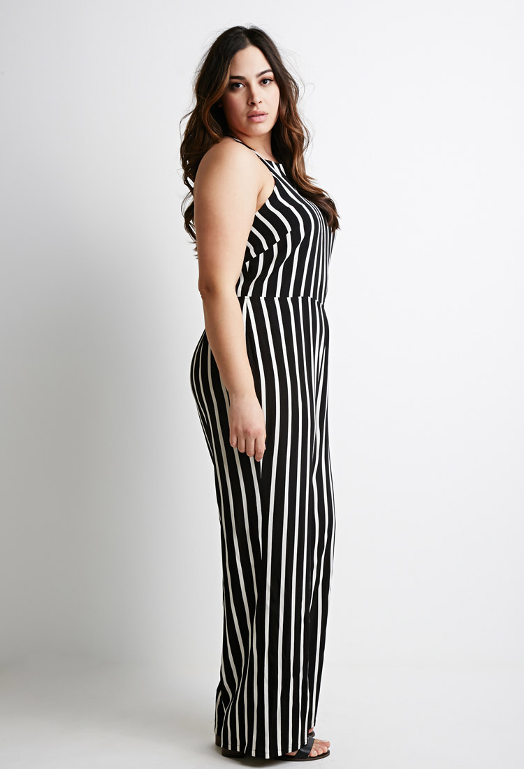 23c0a2e1bef Lyst - Forever 21 Plus Size Striped Cami Jumpsuit You ve Been Added ...