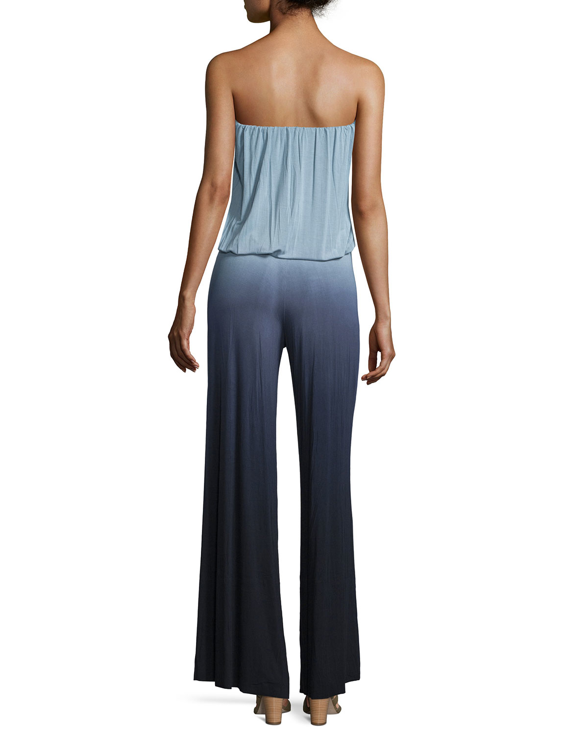 ef0a6077543 Lyst - Young Fabulous   Broke Sydney Strapless Ombre Jumpsuit in Blue