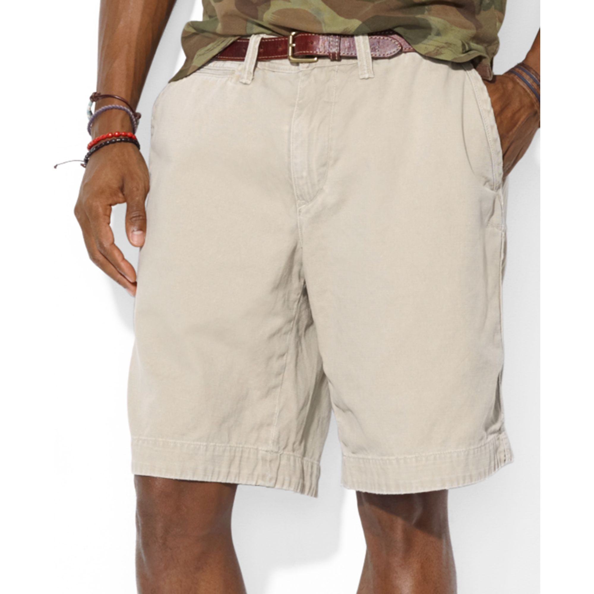 Ralph lauren Polo Relaxed Fit Rugged Bleecker Shorts in Natural ...