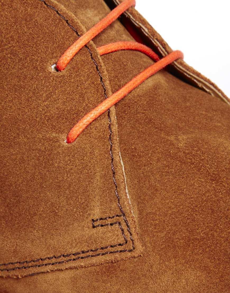 Asos Desert Boots In Suede In Tan Brown For Men Lyst