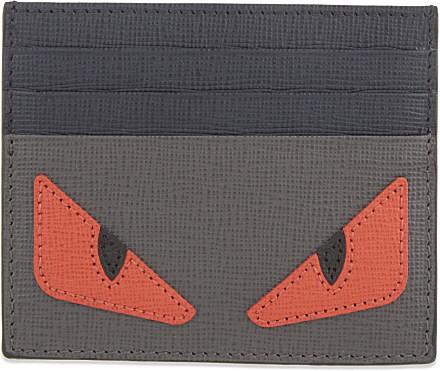 83eb2a44 Fendi Monster Card Holder - For Men in Gray for Men - Lyst