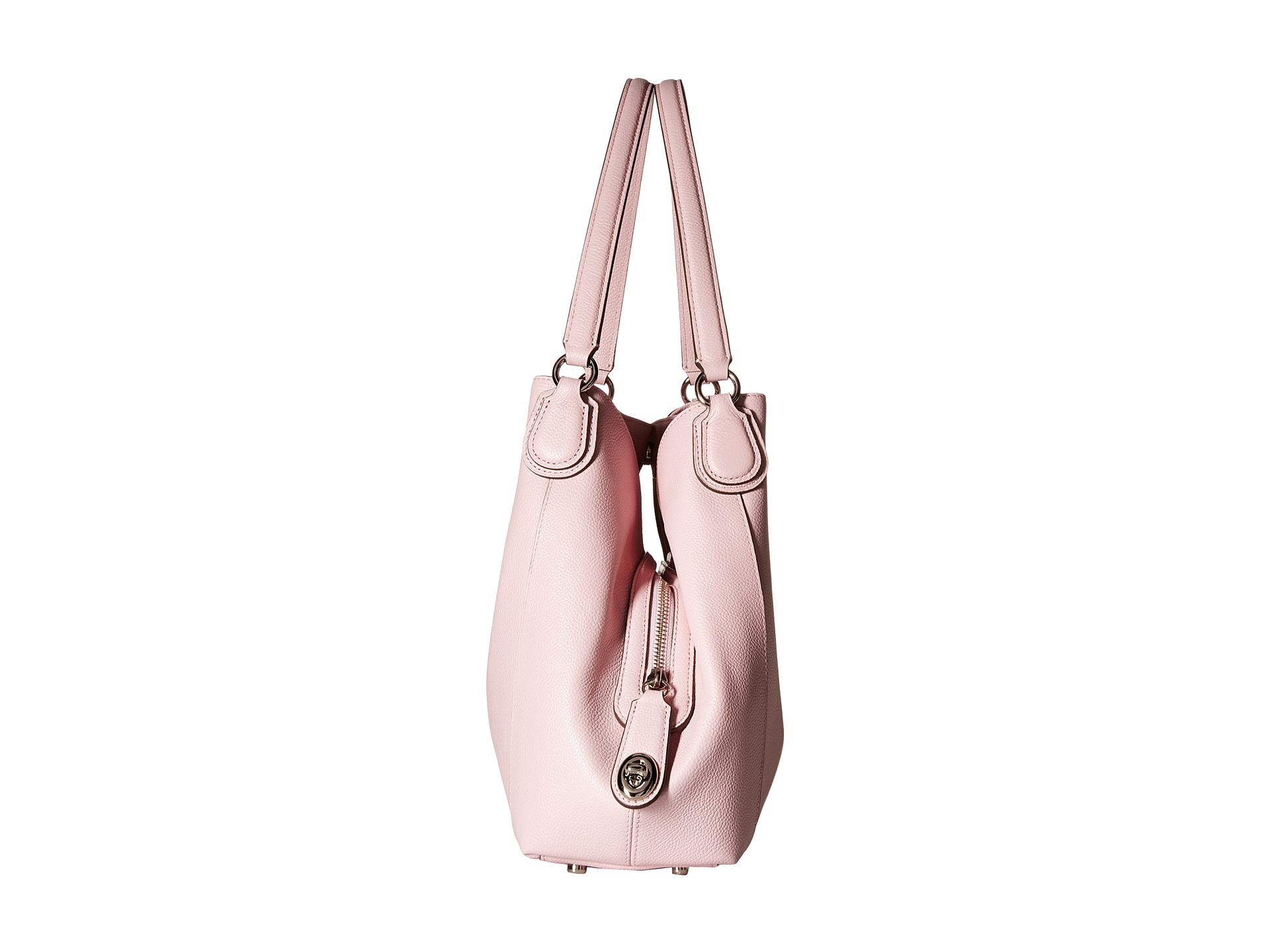 dcc38b4821 ... buy lyst coach refined pebble leather edie 31 shoulder bag in pink  3822d 3e8a9