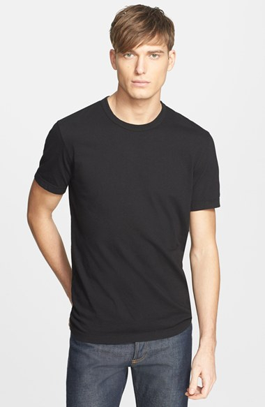 james perse crewneck jersey t shirt in black for men lyst