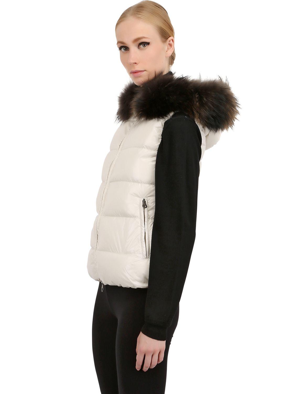 Duvetica Goccia Nylon Down Vest in Cream (White) for Men